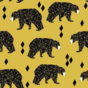 Origami Bear - Mustard by Andrea Lauren