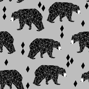 bear // grey nursery black and white triangles southwest nursery decor