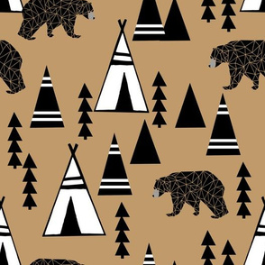 Teepee Forest - Lion Brown by Andrea Lauren