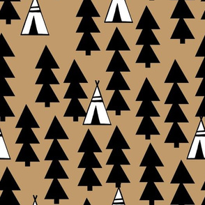 Teepee Trees - Brown by Andrea Lauren