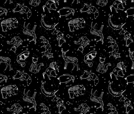 Constellations black and white kids nursery baby for Black and white childrens fabric