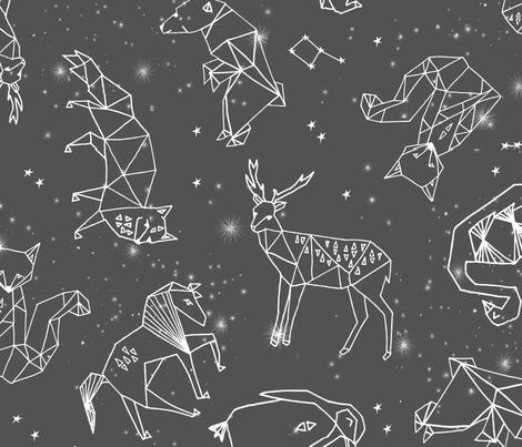 constellations // night time stars sky charcoal grey kids nursery baby print