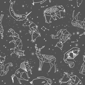 Origami Constellations - Slate Grey by Andrea Lauren