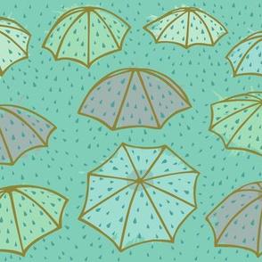 Splashing Umbrellas