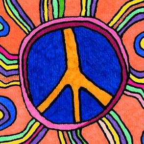 Neon Peace Symbol
