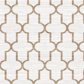 Textured Moroccan Quatrefoil in Cashmere