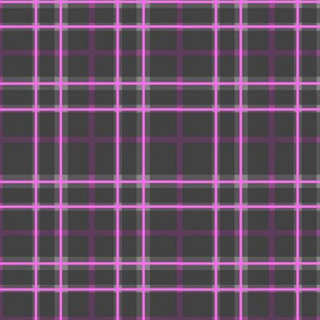 Pink and Slate Plaid