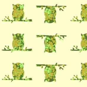 Leaves in owls