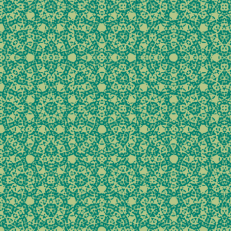 circle plaid in green-gold