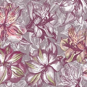 Peruvian Lilies  Grey