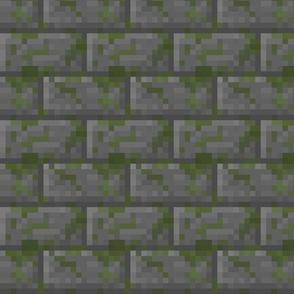 Mossy Cobblestone Bricks - Medium