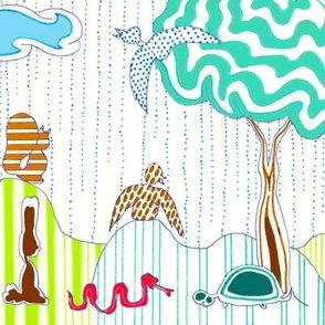 Animals Loving the Rain