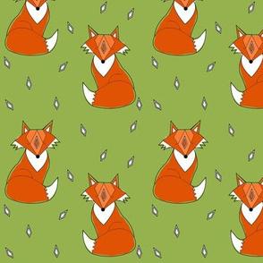green fox by elvelyckan