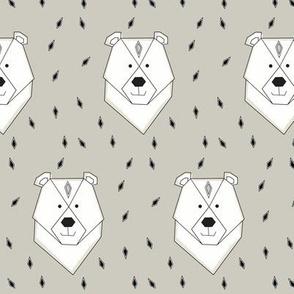polar bear sand - elvelyckan