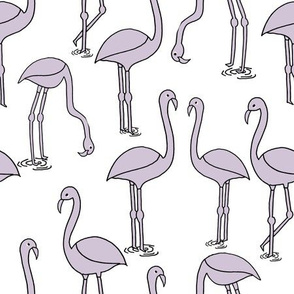 Flamingo new - Lavender by Andrea Lauren