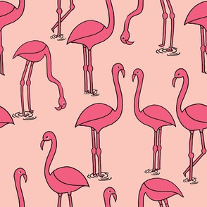 Flamingo new - Pale Pink by Andrea Lauren