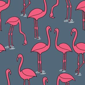 Flamingo new - Payne's Grey by Andrea Lauren
