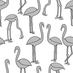 Flamingo new - Slate by Andrea Lauren