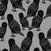 Halloween Owls - Slate by Andrea Lauren