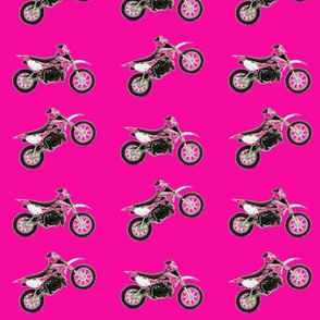 Pink on Pink Dirt Bikes