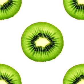 Kiwi Fruit - Large Repeating Pattern