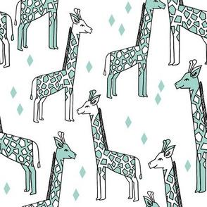 Giraffe - Pale Turquoise by Andrea Lauren