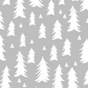 trees // grey forest tree nursery baby kids simple minimal style