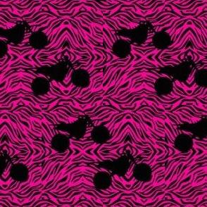 Pink zebra print Dirt Bikes