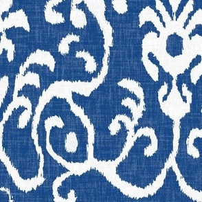 Lucette Ikat in Navy