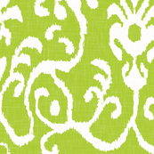 Lucette Ikat in Sprout