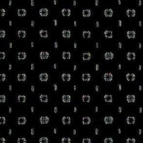 Pods - black, glitter