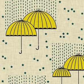 Umbrellas (yellow)