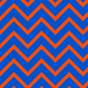 UF Blue and Orange Chevron