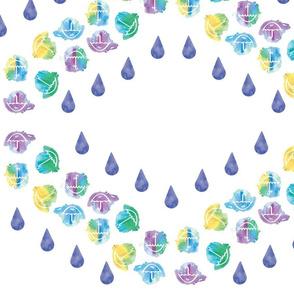 Watercolour Umbrellas