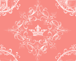 Rcastle_in_fancy_frame_white_pattern_quadrants_crown_orn_on_coral_thumb