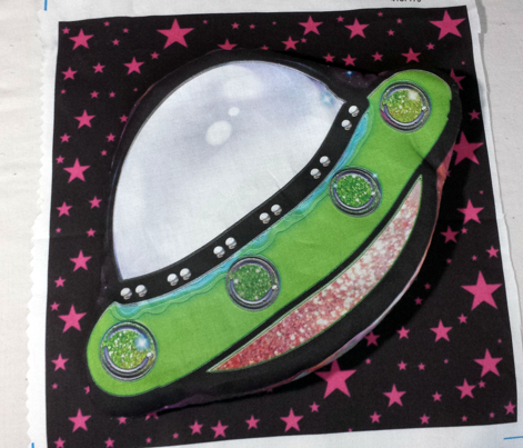 Green UFO Stuffie Pillow, Cut and Sew DIY Project