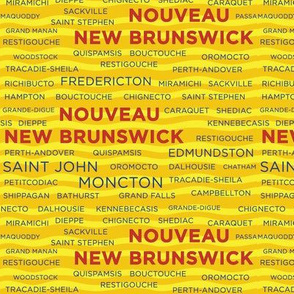 New Brunswick Towns - Yellow