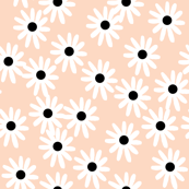 Daisies - Blush/White Black (Smaller Version) by Andrea Lauren