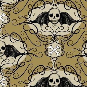 winged skulls - moss