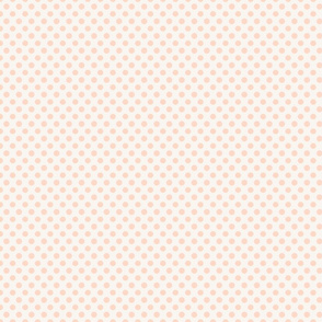 Polka Dot Pale Peach
