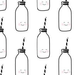 MILK (happy) // white