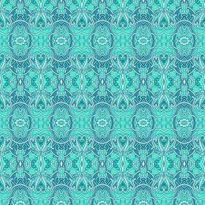 Lacy Turquoise Horizontal Stripe