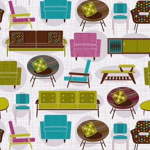 retro furniture purple