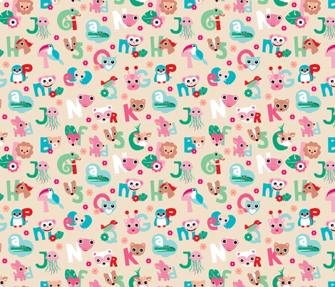 School Fabric Prints Illustration Print Fabric