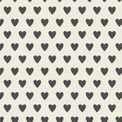 Hearts-Cream & Dark Gray