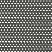 Hearts-Dark Gray & Cream