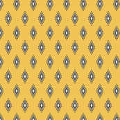 Yellow & Gray Aztec