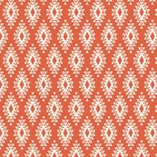 Orange & Cream Aztec