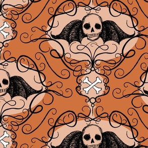 Winged Skulls-orange