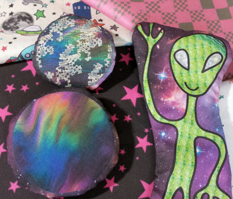 Alien and UFO DIY Stuffie Project, Cut and Sew